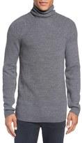 Sand Men's Rib Knit Turtleneck Sweater