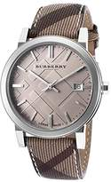 Burberry Men's The City Smoked Trench Check PVC Beige Dial