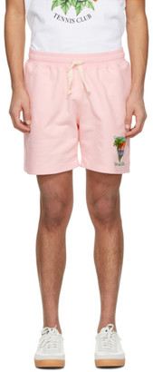Casablanca Pink Tennis Club Shorts