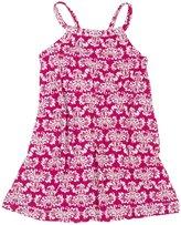 Hatley Shirred Dress (Toddler/Kid) - Fuchsia Batik-6
