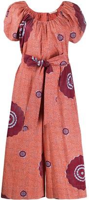 Ulla Johnson Abstract-Print Puff-Sleeved Dress