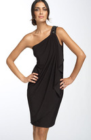 Maggy London Beaded Shoulder Jersey Dress