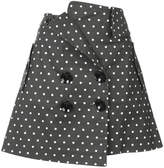 Monse polka-dot fitted skirt