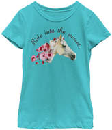 Fifth Sun Tahi Blue 'Ride Into the Sunset' Scoop Neck Tee - Girls