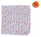 Original Penguin McNeill Floral Pocket Square & Mixed Print Lapel Pin Set