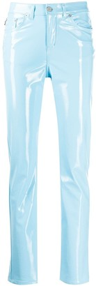 Fiorucci Yves vinyl-effect trousers