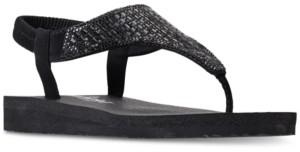 Skechers Women's Meditation - Rock Crown Flip-Flop Thong Sandals from Finish Line