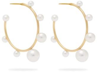 Irene Neuwirth Gumball Akoya Pearl And 18kt Gold Hoop Earrings - Womens - Pearl