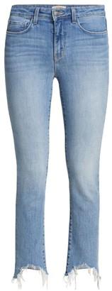 L'Agence Harlem Frayed Skinny Jeans