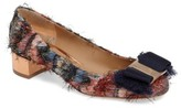 Salvatore Ferragamo Women's Frayed Bow Pump