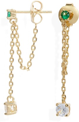 Melinda Maria Ray Drop Chain Earrings