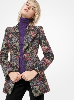 Michael Kors Floral Tapestry Blazer