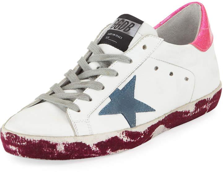 Golden Goose Superstar Paint-Platform Leather Sneaker
