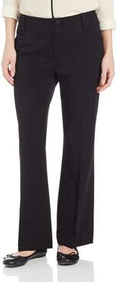 Rafaella Women's Curvy Fit Short Length Gaberdine Trouser Black 12