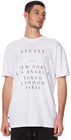 Stussy World Toruing Mens Tee White