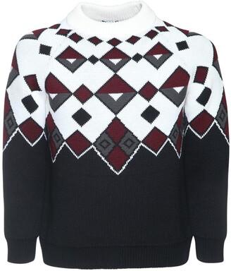 Prada Geometric Jacquard Wool Knit Sweater