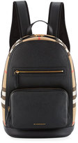 Burberry Men's Leather & House Check Backpack