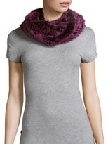 Jocelyn Dyed Rabbit Fur Infinity Scarf