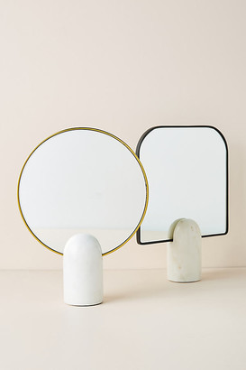 Anthropologie Pandora Tabletop Vanity Mirror By in White Size XS
