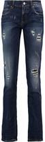 Vivienne Westwood Billy Distressed Mid-Rise Slim-Leg Jeans