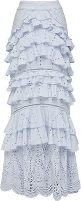 We Are Kindred Lola Ruffled Maxi Skirt