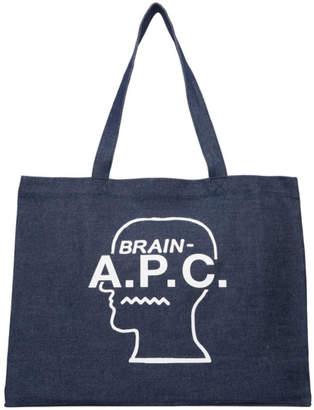 A.P.C. Indigo Brain Dead Edition Shopping Tote