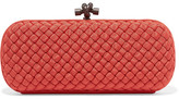 Bottega Veneta The Knot Intrecciato Grosgrain Clutch - Red