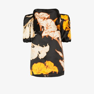Johanna Ortiz Cosmic Origin floral silk mini dress