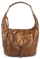 Bueno Women's Faux Leather Satchel Handbag with Zip Closure