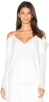 C/Meo Cold Shoulder Long Sleeve Top
