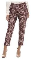 Atos Lombardini Women's Burgundy Polyester Pants.