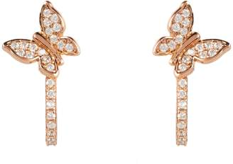 Rosegold Latelita Mini Butterfly Half Hoop Earring