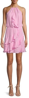 Parker Halterneck Silk Mini Dress
