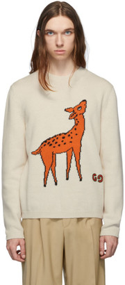 Gucci Beige GG Deer Sweater