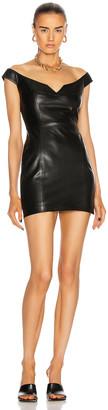ZEYNEP ARCAY Princess Mini Leather Dress in Black | FWRD