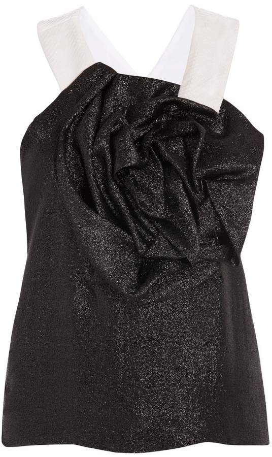 Prabal Gurung Snakeskin Rose Top