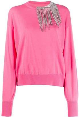 Circus Hotel embellished loose-fit jumper