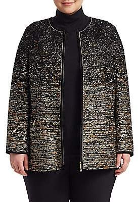 Lafayette 148 New York Lafayette 148 New York, Plus Size Women's Karina Tweed Collarless Jacket