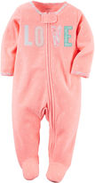 Carter's Sleep N Play Footed Pajamas - Baby Girls newborn-9m