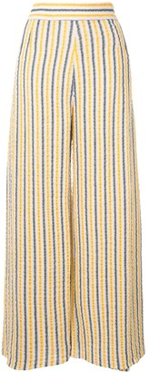 Three Graces Wide Leg Striped Trousers