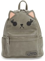Loungefly Girl's Cat Faux Leather Backpack - Grey