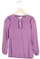 Burberry Girls' Ruffle-Trimmed Long Sleeve Top