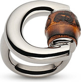 Gucci Horsebit bamboo-detail sterling silver ring