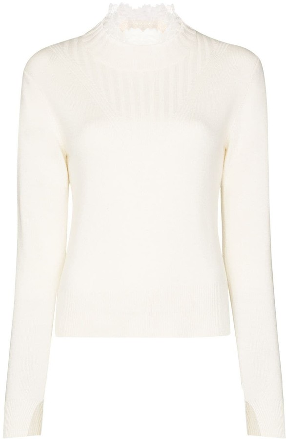 See by Chloe Lace trim jumper