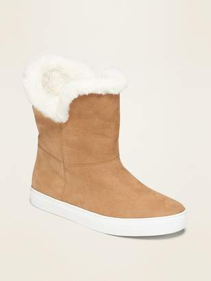 Old Navy Faux-Fur Lined Faux-Suede Sneaker Boots for Girls