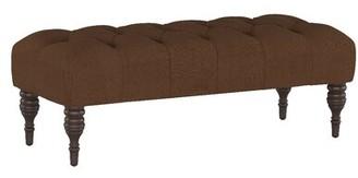 Alcott Hill Fitchburg Bench Upholstery: Linen Chocolate