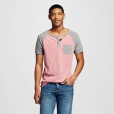 Men's Henley Red/Gray S - Mossimo Supply Co.