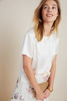Anthropologie Boxy Silk Tee
