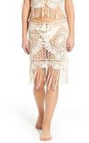 For Love & Lemons St. Lucia Crochet Cover-Up Skirt