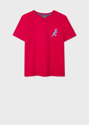 Paul Smith Women's Red Small 'Dino' Print Cotton T-Shirt